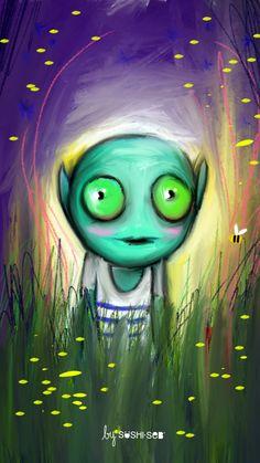 Stranger World by SUSHISEB #alien #iPhone