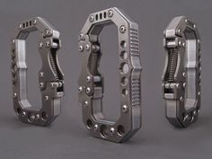 A titanium-clad carabiner unlike anything else available, worthy of your finest EDC or just your keys.