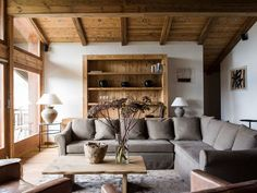 Switzerland-based interior designer Marianne Tiegen always blows me away with her interior design projects that take rustic to a whole other level. This chalet was given a dose of classy understated e