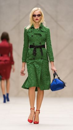 Burberry Prorsum Spring/Summer 2013 Show  (check out the runway video on the site; the back of this trench coat is to die for!)