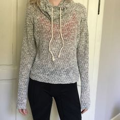 Knit Hoodie Super cute soft knot sweater! Perfect to throw on over gym clothes or even to our with a pair of shorts for summer! In great condition! Tops Sweatshirts & Hoodies