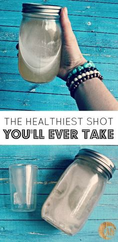 The Healthiest Shot You'll Ever Take! It helps clear skin, boost metabolism, improves digestion, prevents wrinkles and cellulite, heals gut lining and strengthens the immune system!