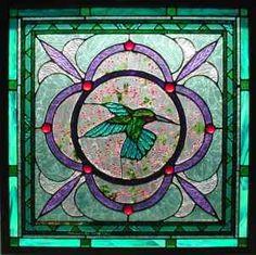 Hummingbird Stained Glass Window   Amingo Glass-Stained Glass