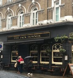 Loved living in London! They even named a pub after my husband Jack!