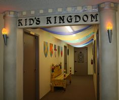 Hallway Entrance.  kingdom rock vbs.