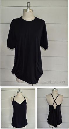 WobiSobi: Braided Back Tee #4: DIY I have an old work t-shirt from last summer that I would totally do this to