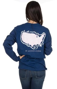 """From sea to shining sea, wear this Sweet Tee with pride! Show your patriotic and preppy side in this tee that supports our idea that """"Pearls are always appropri"""