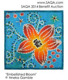 Art quilt by Nneka Gamble #artquilts #SAQA