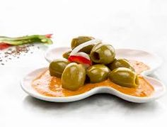 This week, it's all about the sauce. We've combined green and red peppers and onions with olives from Spain to bring you the latest Tapas Tuesday creation. We hope you enjoy! Peppers And Onions, Red Peppers, Tapas, Cravings, Stuffed Peppers, Fruit, Olives, Tuesday, Spain