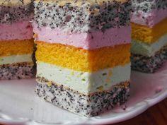 rozczochrane okruszki: Ciasto Tęcza.