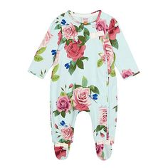 Baker by Ted Baker Baby girls' light green rose print sleepsuit- | Debenhams