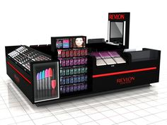 Makeup Kiosks: Options for possible products that can be sold.