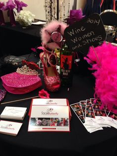 Photo booth props Wine Women and Shoes Miami Fl