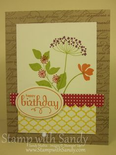 Stamp With Sandy: Summer Silhouettes, Stampin Up