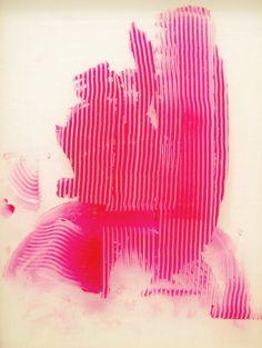 pink combed shape Sigmar Polke, Untitled (Lens Painting), 2008 via Perfection of Perplexion Collage Kunst, Pop Art, Modern Art, Contemporary Art, Art Rose, Art Watercolor, Arte Pop, Mark Making, Art Design