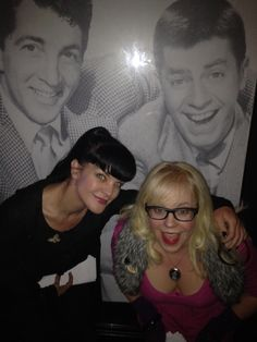 Pauley and  Kirsten aka NCIS Abby and Penelope of Criminal minds hanging out