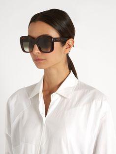 Céline Sunglasses Oversized D-frame acetate sunglasses