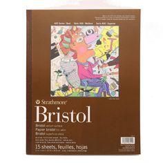 "Strathmore 400 Bristol vellum surface pad 11 x14"" sheets"