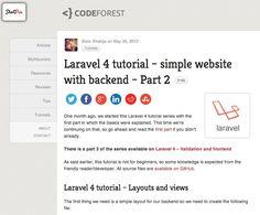 Laravel tutorial - simple website