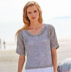 002 cyc alta costura pdf - Her Crochet Easy Crochet, Knit Crochet, Crochet Shirt, Vest Pattern, Beautiful Crochet, Shawls And Wraps, Crochet Clothes, Pulls, Knitwear