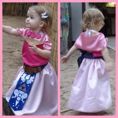 Baby Zelda Cosplay Garb toddler Zelda costume Link childu0027s renaissance  sc 1 st  Pinterest & Baby Princess Zelda Costume Repurposed Dress by LeenGreenBean ...