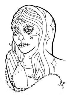 Череп раскраски | череп | череп | татуировки | Татуировки | искусство татуировки | горячая тату | бесплатно татуировка | Hotcoloringpages.com | # 19
