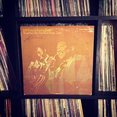 More Bobby along with BB. #nowspinning #bbkingandbobbybland #togetherforthefirsttimelive #vinyl #recordcollection #blues #joy 1974