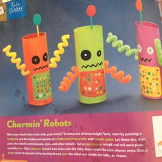 R is for toilet paper robot craft (no instructions, just a pic)