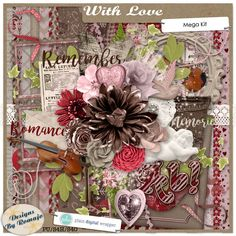 With Love #plaindigitalwrapper #pdw #digitalscrapbook #scrapbook #digital #memorykeeping #designsbyromajo