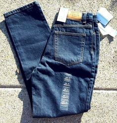JONES OF NEW YORK JEANS NWT High Waisted Sandblasted Blue Mom Streetwear Jeans | Clothing, Shoes & Accessories, Women's Clothing, Jeans | eBay!