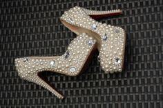 Deposit on Swarovski Crystal Wedding Shoes by MysticalScentsBridal, $275.00