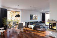 Projekt domu Domena 114 A (TBY-435) - 116.3m² Teak, Pergola, Conference Room, Table, Furniture, Home Decor, Decoration Home, Room Decor, Outdoor Pergola