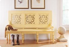 I love this bench, but I really love the buttery, brownish yellow
