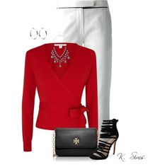 A fashion look from December 2014 featuring Diane Von Furstenberg cardigans, Ann Demeulemeester capris and Siren sandals. Browse and shop related looks.