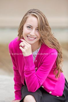 pink cardigans   senior sessions   sessions   poses for portraits   siting poses