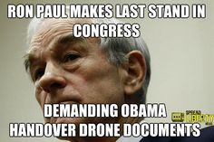 Read More: www.spreadlibertynews.com/forcing-obama-to-handover-drone-documents-rep-ron-paul-makes-last-stand-before-leaving-congress/
