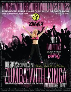 Hamptons.com Calendar | Zumba® In the Hamptons with Artist / Fitness Dancer KINGA