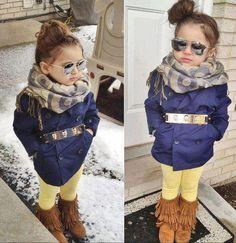 Loving the fringe boots. #KidsFashion