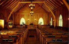 The inside of our wedding chapel: Big Moose Community Chapel