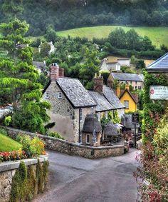 Branscombe village Devon, England
