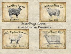 Sheep pantry labels. .... Luv these♡♥♡