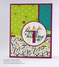 Stampin' Up! Picture Perfect Birthday Bundle DOstamperSTARS swap shared by Dawn Olchefske #dostamping  #stampinup #handmade #cardmaking #stamping #birthday #diy #rubberstamping #papercrafting #DOstamperSTARS #2018OccasionsCatalog (Jolene Berg)