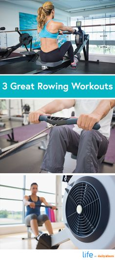 3 Rowing Machine Workouts for Cardio and Strength via @dailyburn