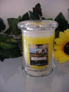 8 oz Status Jar Candle Sunflower Scent Candle by Unique Aromas. $21.75. Sunflower scent. Candle color may vary from photograph. Price per jar candle. This candle is sure to bring joy and warmth to all those in the presence of it.Some assembly may be required. Please see product details.Some assembly may be required. Please see product details.