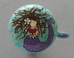 bicycle bell mermaid bicycle accessories cycling art tropical island beach cruiser bike accessories bicycle handlebars sea life hand painted by PsykelChic on Etsy https://www.etsy.com/listing/159197795/bicycle-bell-mermaid-bicycle-accessories