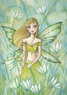 Molly Harrison Fairy in Green
