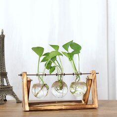Retro Wooden Desktop Planter