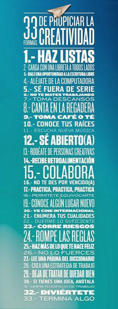 33 Formas para aumentar tu creatividad #creatividad #estudiantes #umayor