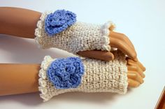 Fingerless Gloves by SweetNothingsStitch on Etsy, $10.00