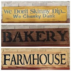 "Large Rustic Wood Sign - ""Bakery…."" Kitchen Decor, Fixer Upper, Farmhouse"